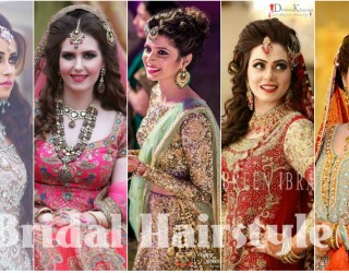 latest Bridal Hairstyles 2017 For Pakistani & Indian Girls