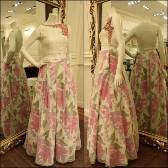 latest lehenga choli designs 2017 in Pakistan
