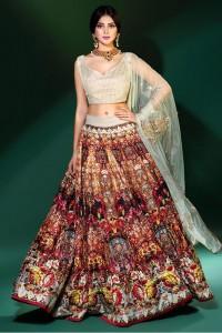 Erum Khan embroidered lehnga choli 2017 for wedding