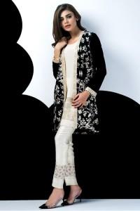 Latest Pakistani Eid Dresses 2017 For Girls Jacket Style