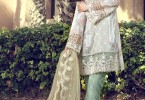 new sky blue short shirt and pajama with matching dupatta girls summer lawn dress designs 2017 for girls by maria b