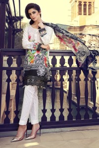 new summer yellow shirt with white pajama and matching dupatta girls summer lawn dress designs 2017 for girls by maria b
