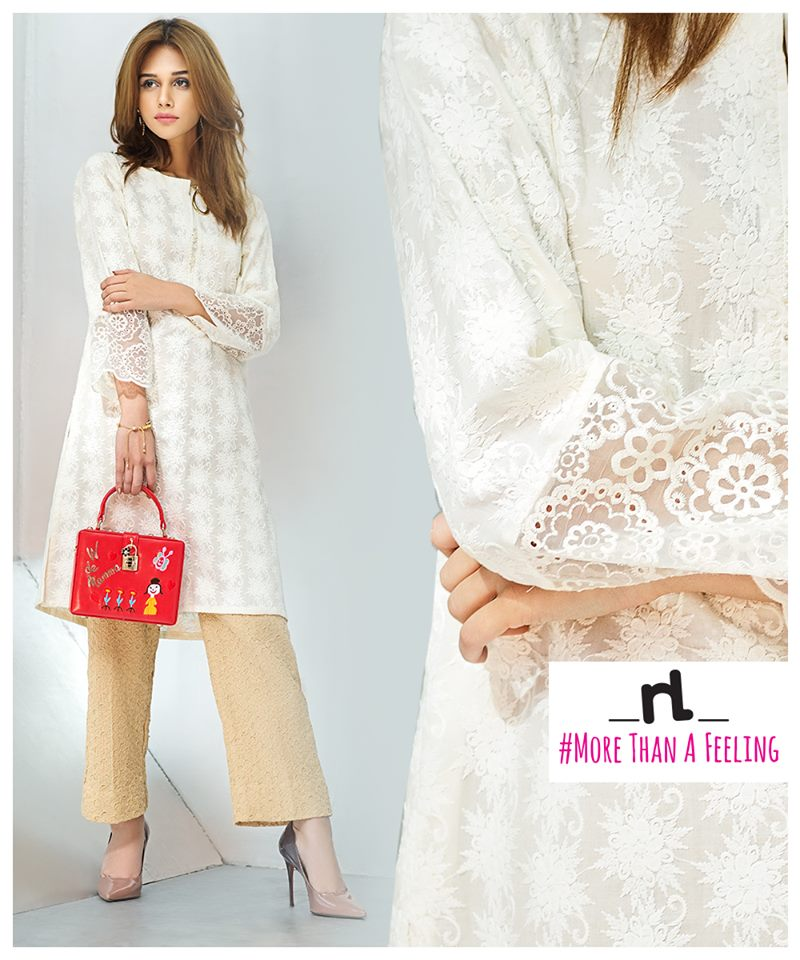 Nishat Linen female Kurta Designs 2017 for Summer