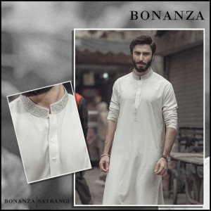 Latest Men Summer Kurta Designs 2017 By Bonanza