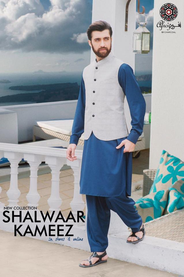 Latest Men Summer Kurta Designs 2017 By Charcoal