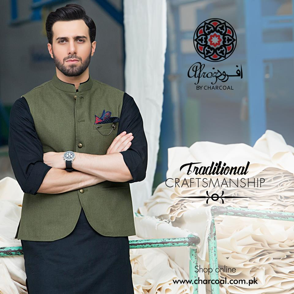 Waistcoat combination for black kameez