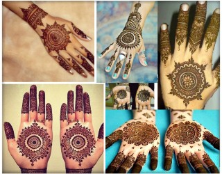 Easy Round Design/Gol Tikka Mehndi for Hands 2018