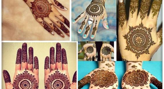 Gol Tikka Mehndi designs 2017 for Hands