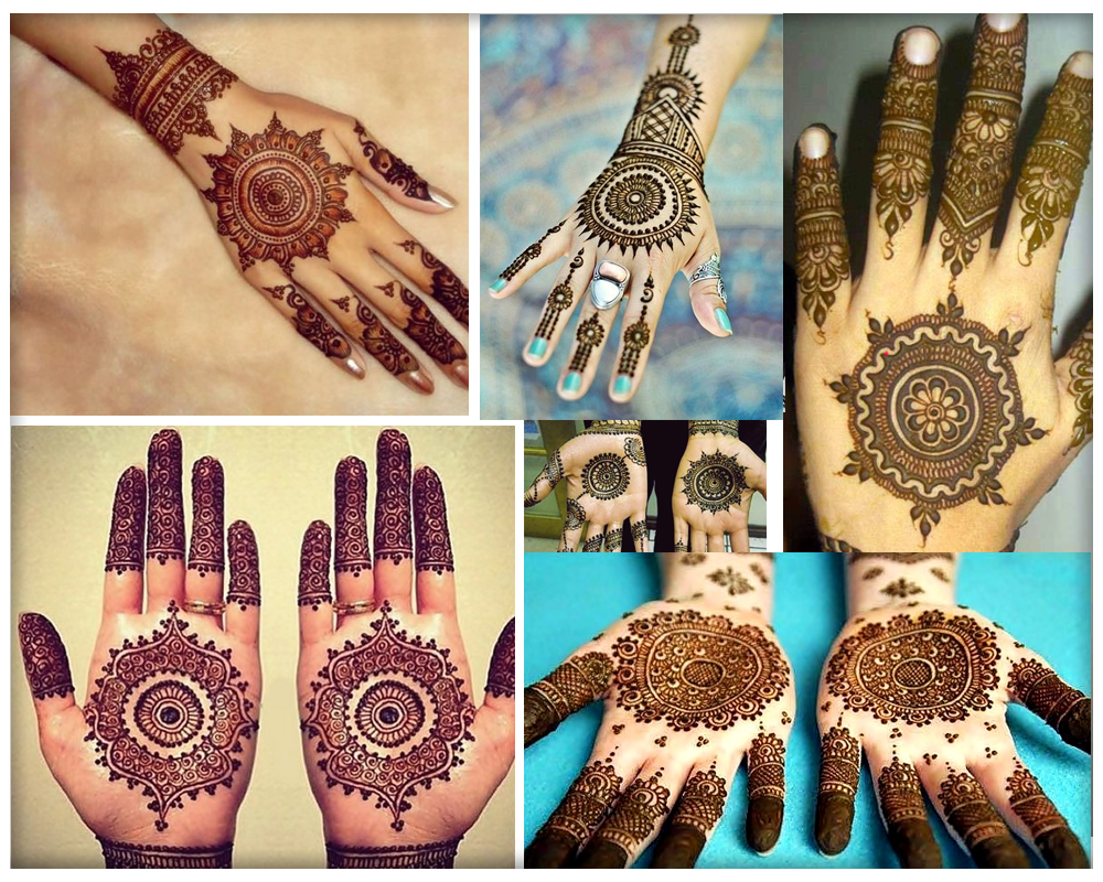 Gol Tikka Mehndi designs for Hands