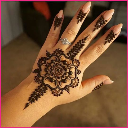 Latest Simple Mehndi Designs For Hands 2017:  FashionGlintrh:fashionglint.com,Design