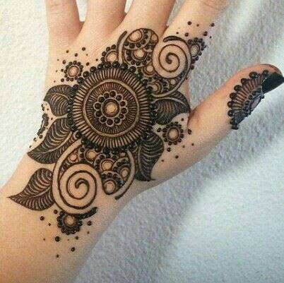 Simple Mandala Henna Designs