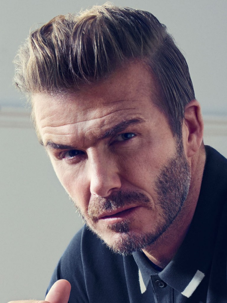 David Beckham Slide back Hairstyle