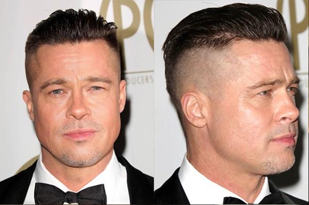 Brad Pitt Classic Undercut Hairstyle