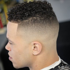 Fade Haircut for Curly Hair