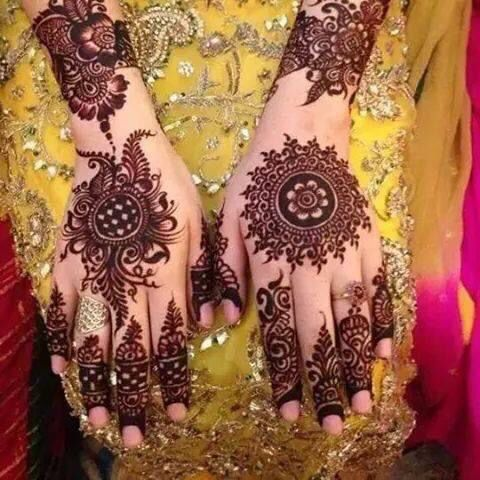 New style mandal henna design 2017 for Eid
