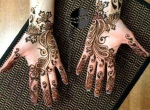 New Arabic Eid Mehndi Design for Full Hands