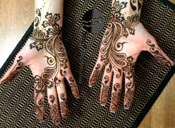 New Arabic Eid Mehndi Design for Full Hands