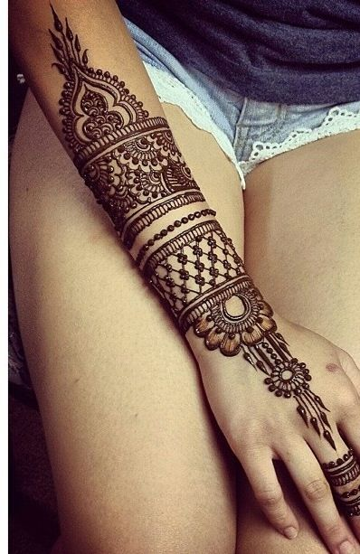Eid Arabic Mehndi Design 2017 for Full Arm