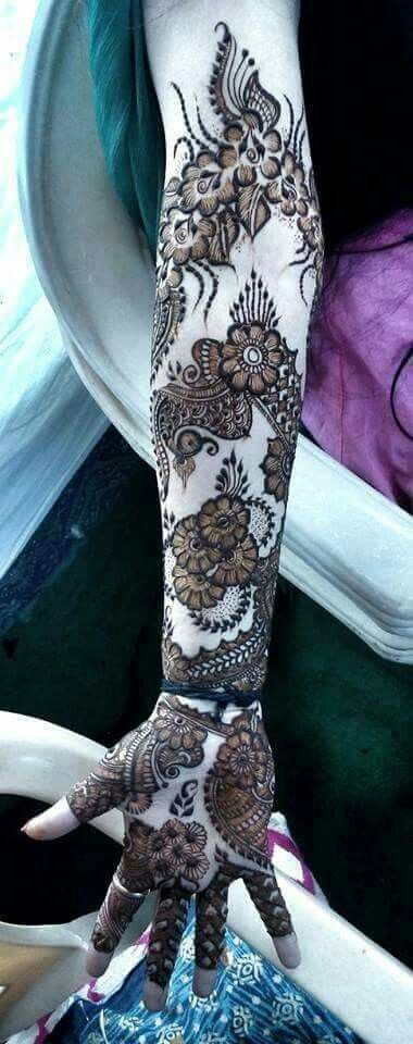 Eid Arabic Mehndi Design for Full Arms