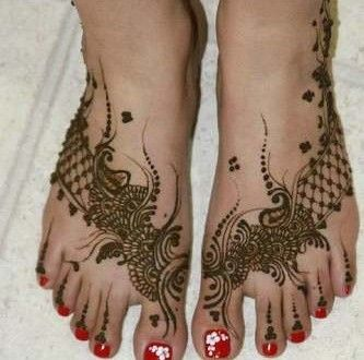 Foot Henna Design 2017 for Eid