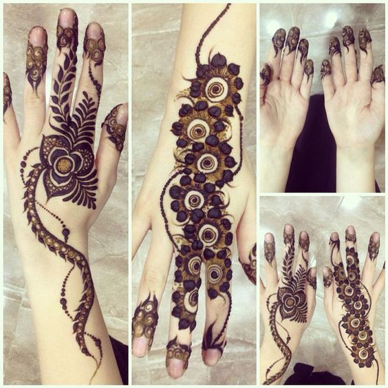 New Style Simple Arabic Mehndi Designs for Eid