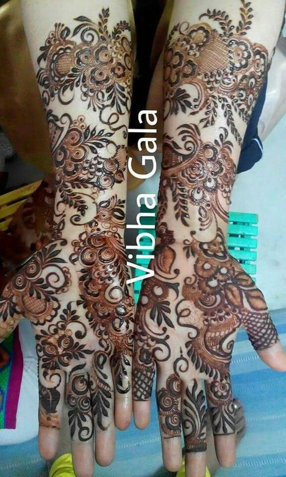 Eid Arabic Mehndi Designs 2017 for Full Hands