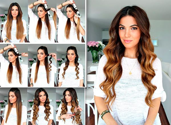 Wavy hairstyle step by step for long hair this eid 2017