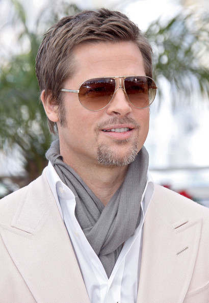 Brad Pitt in Aviator style Sunglasses