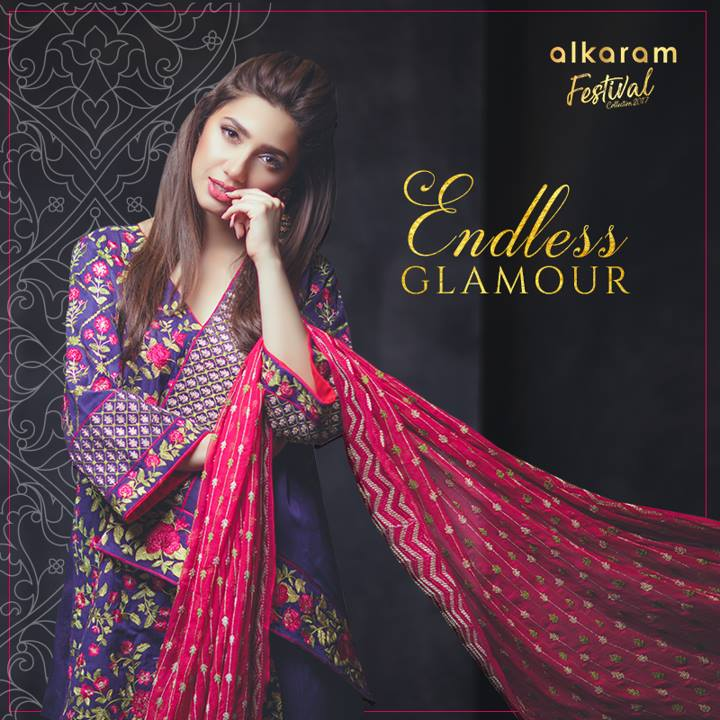 Alkaram Purple Eid 3 Piece Suit 2017
