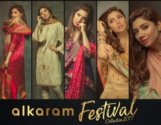 Alkaram lawn & Chiffon 2017 Eid Collection with Price