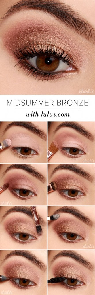 Simple Eid Eye Makeup Step by Step In Bronze