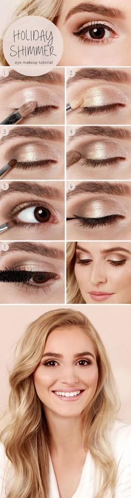Simple Eid Shimmer Eye Makeup Step by Step