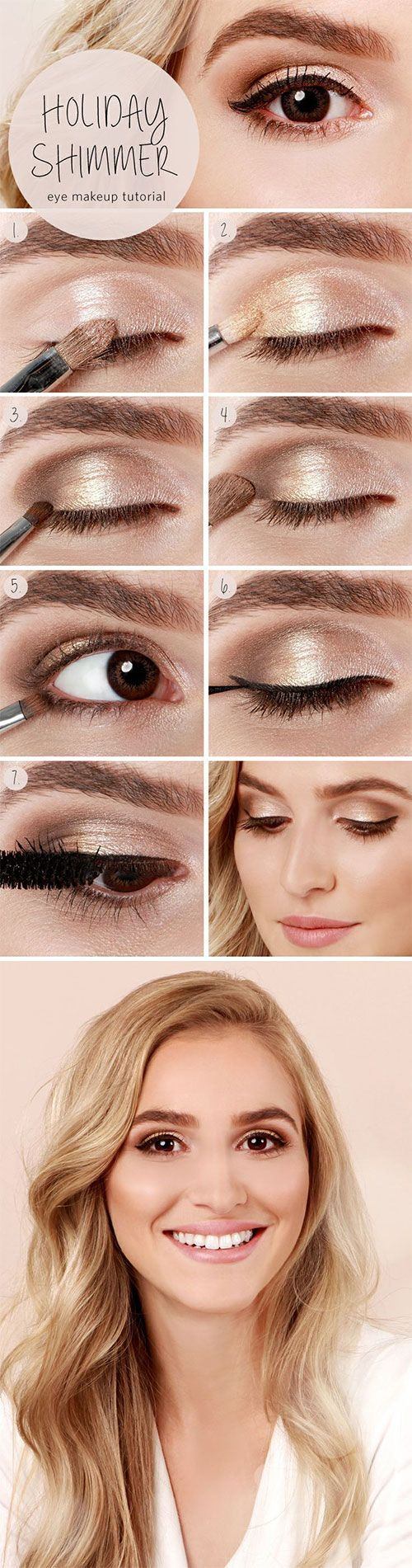Simple Eid Shimmer Eye Makeup Step by Step