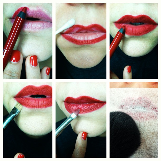Red Lipstick Tutorials Step by Step for Eid