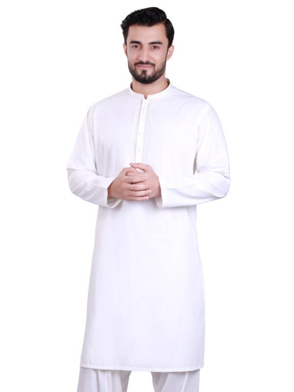 Edenrobe White Shalwar Kameez 2020