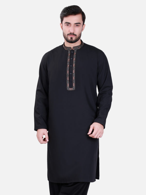 Edenrobe Shalwar Kameez 2017 in Black Color