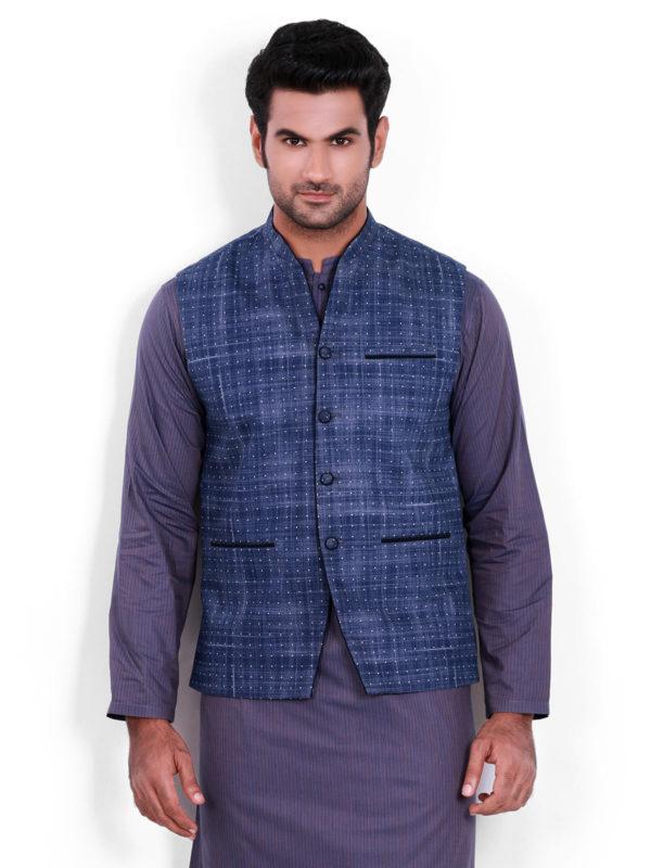 Edenrobe Blue Waistcoat Design 2020