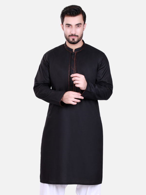 Edenrobe Kurta Design 2017 in Black Color