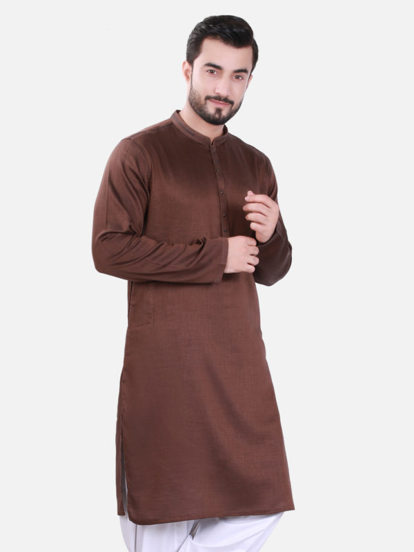 Edenrobe Kurta Design 2017 in Dark Brown Color