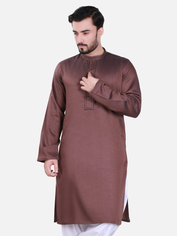 Edenrobe Kurta Design 2017 in Maroon Color