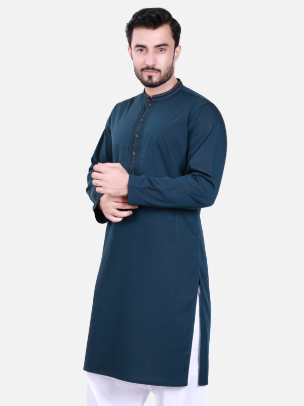 Edenrobe Kurta Design 2017 in Navy Blue Color