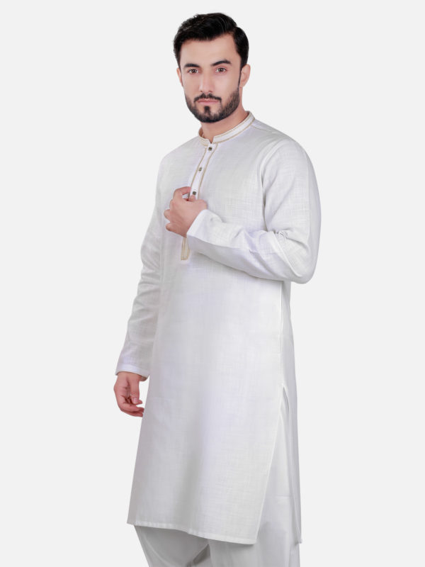 Edenrobe Kurta Design 2017 in White Color