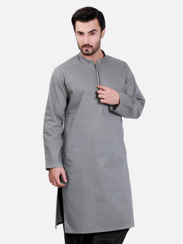 Edenrobe Kurta Design 2017 in Grey Color