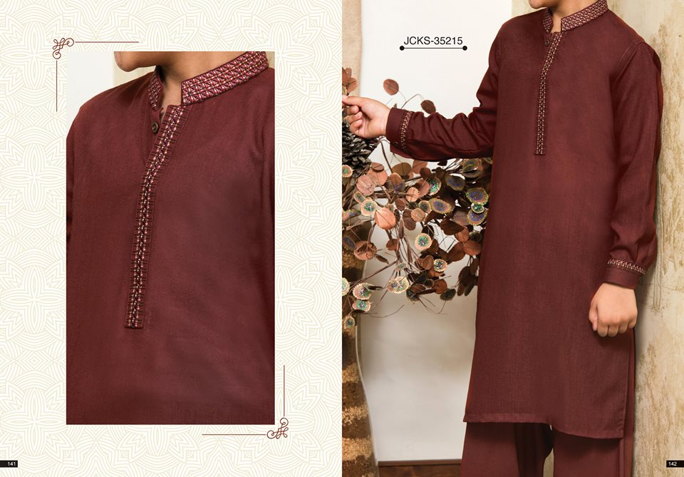 J. Maroon Eid Kurta Shalwar for Male 2017