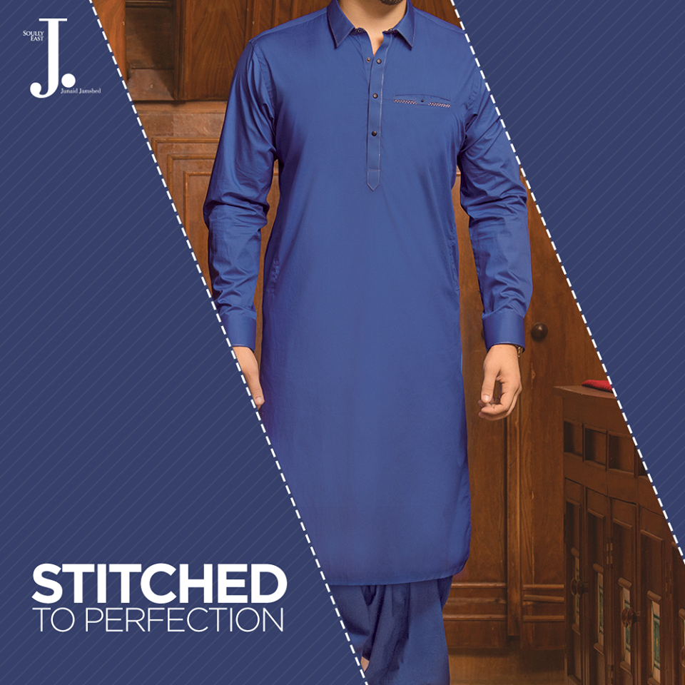 J. Blue Kameez Suit for Gents 2017