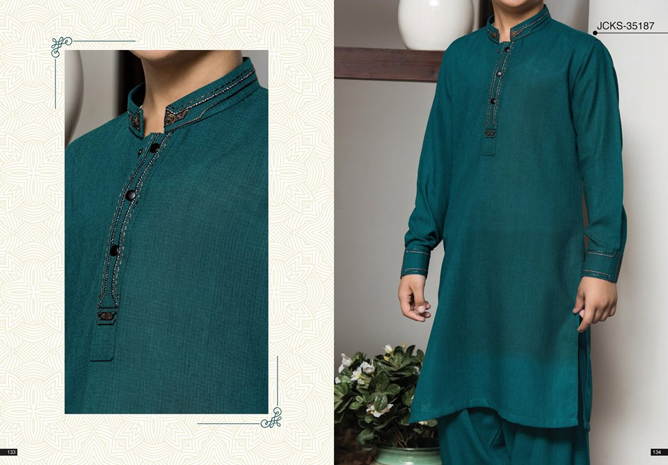 J. Embroidered Gents Kurta for Eid 2017