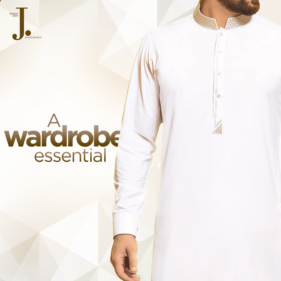 Off White Eid Kurta by J. 2017
