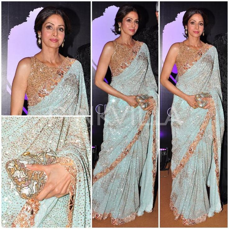 Seri Devi in Manish Malhotra Saree