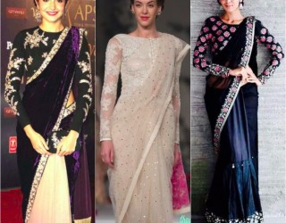 Latest Saree Designs 2017 for Pakistani & Indian Girls