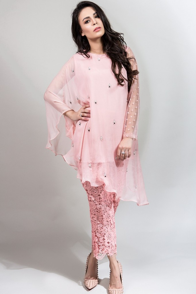 Light Pink Outfit for Eid by Maria B